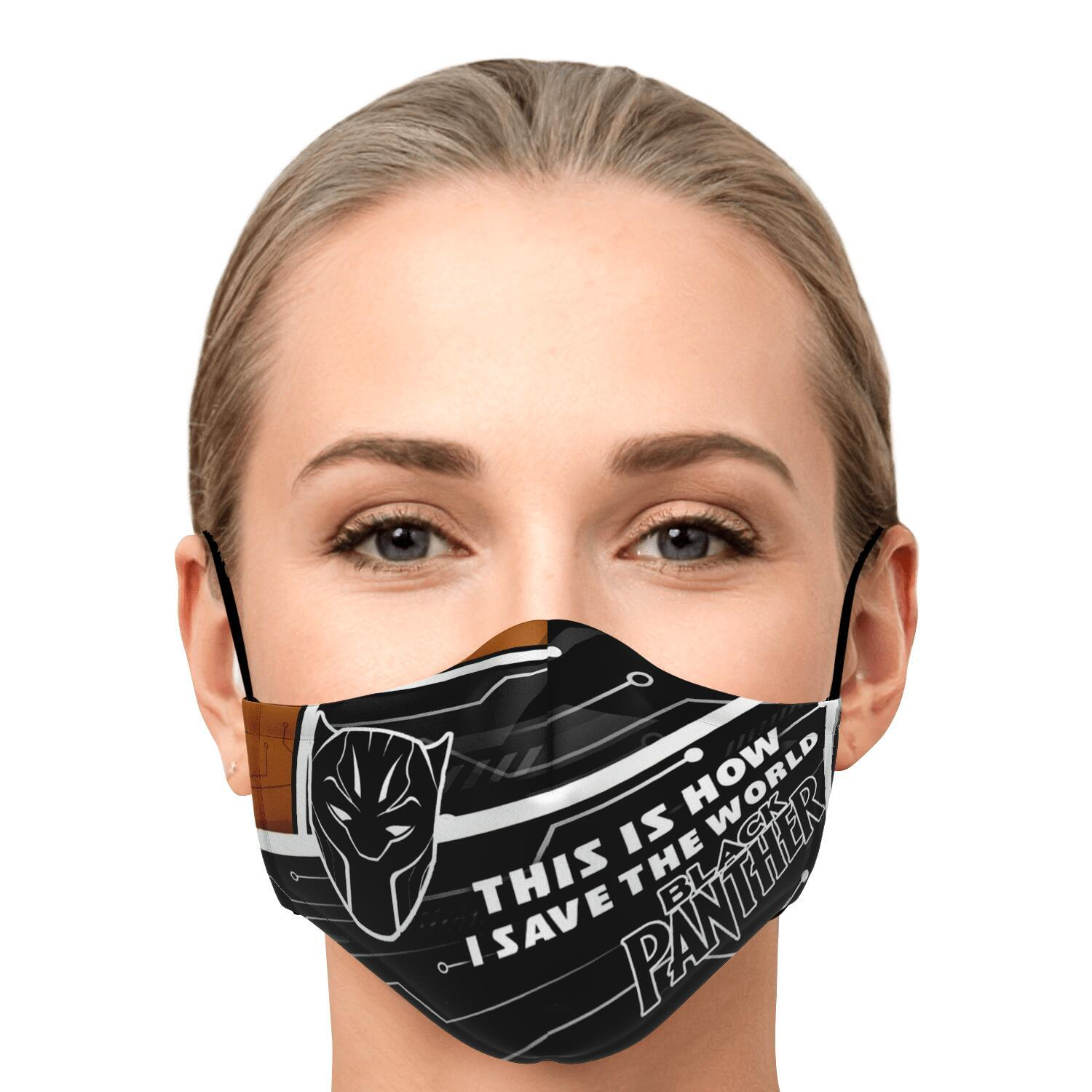 This Is How I Save The World Black Panther Face Masks 1