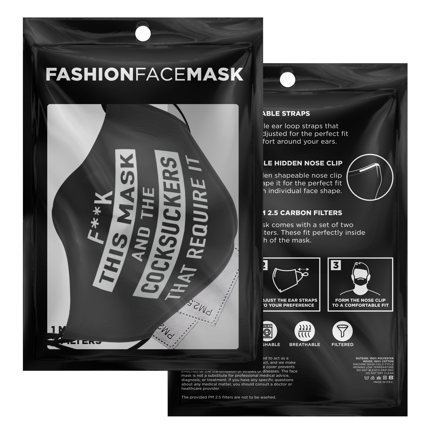 Fuck This Mask And The Cocksuckers That Require It Face Mask 3