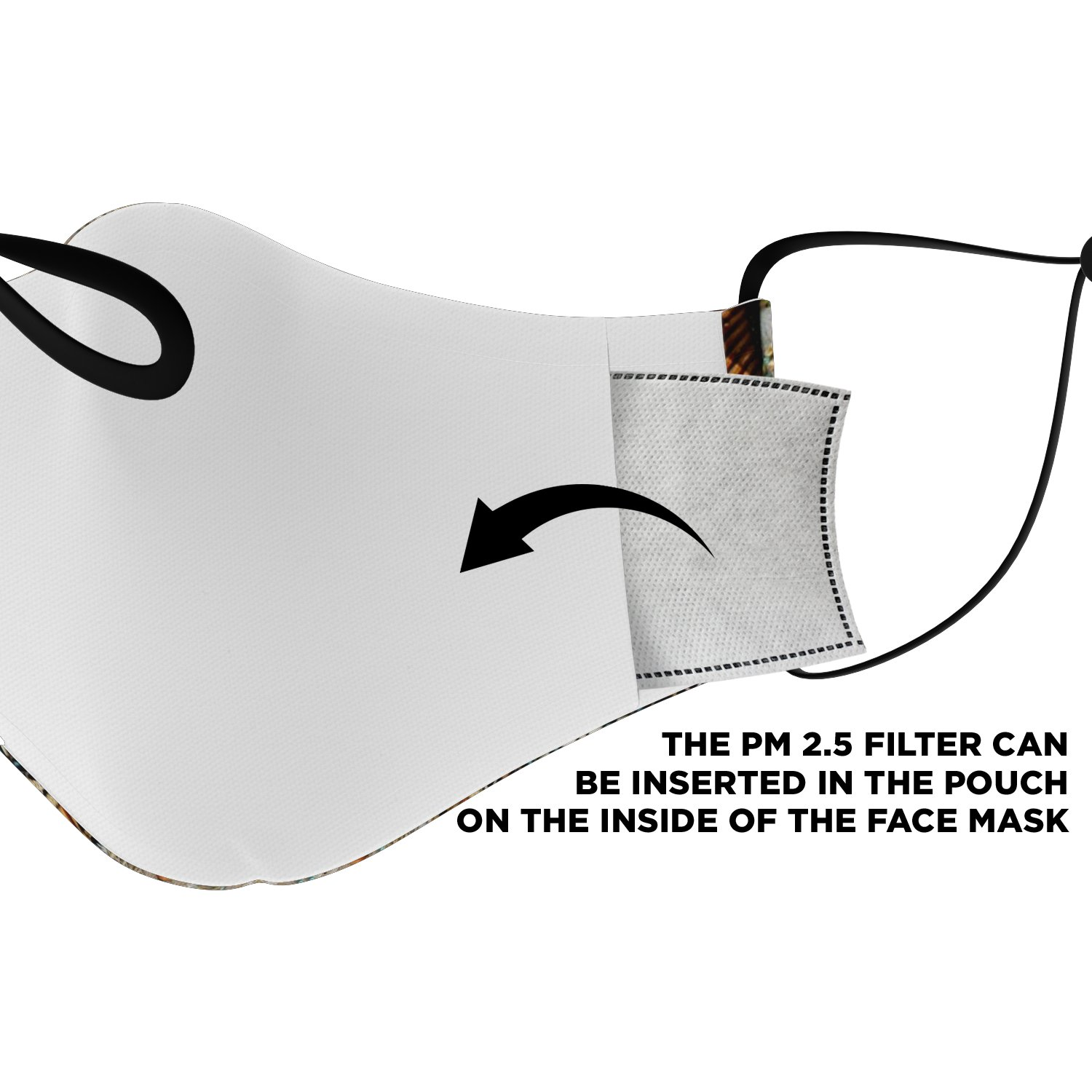 Land Of Peace Native American Face Mask 4