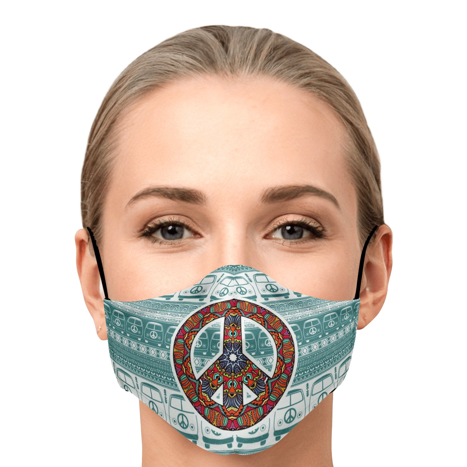Hippie Van Volkswagen Peace And Love Face Mask 1