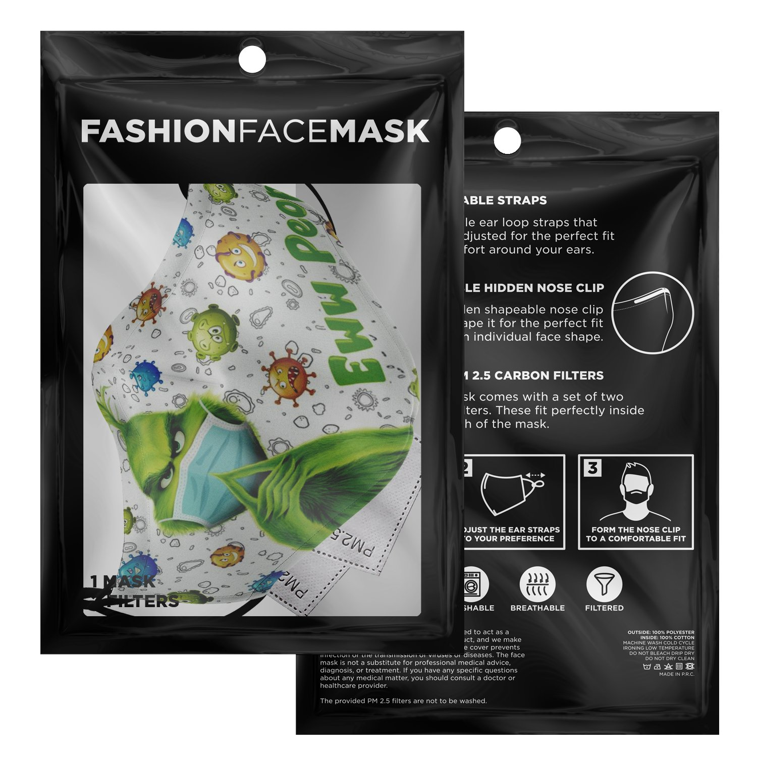 Ew People The Grinch Face Mask 3