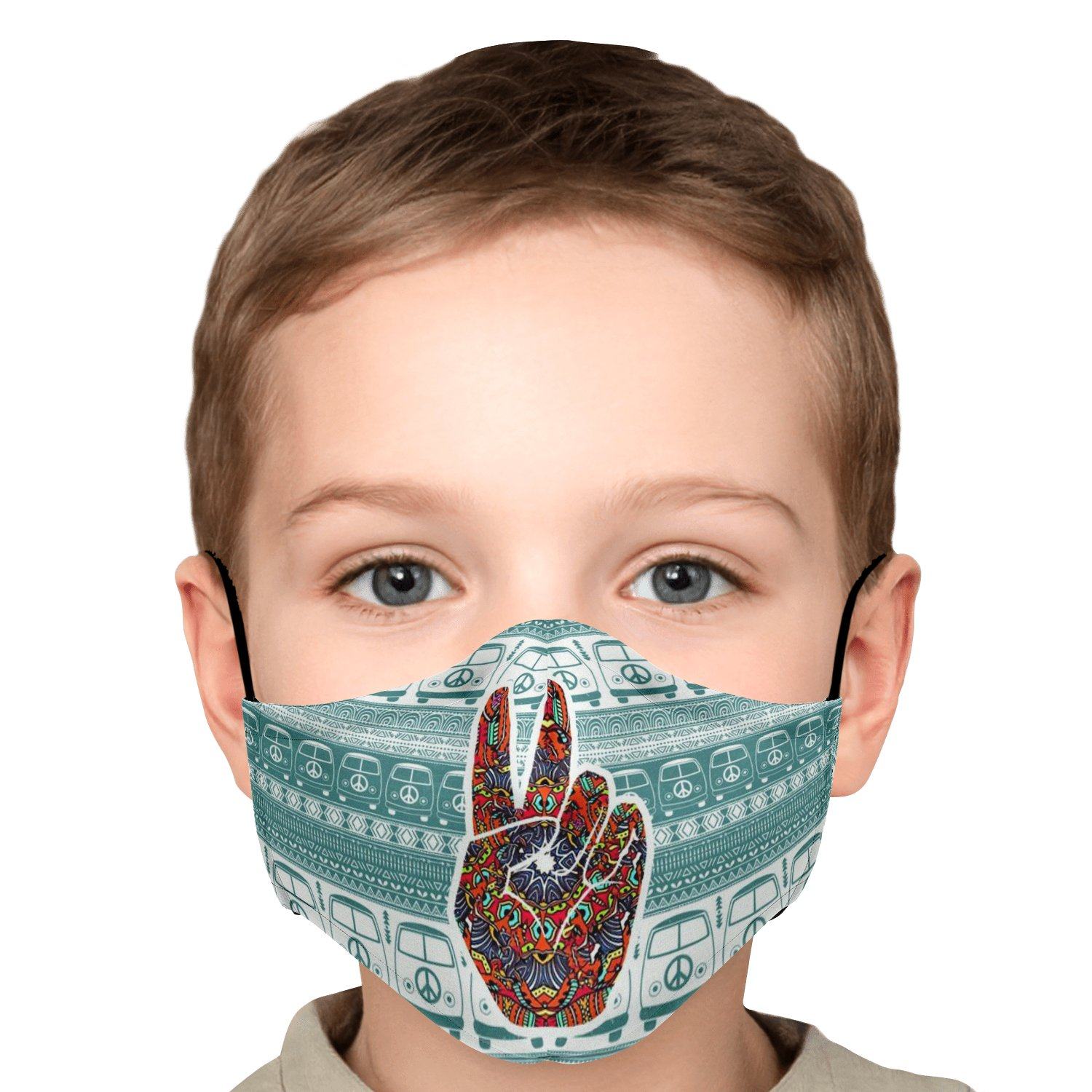 Hippe Van Peace And Love Face Mask 6