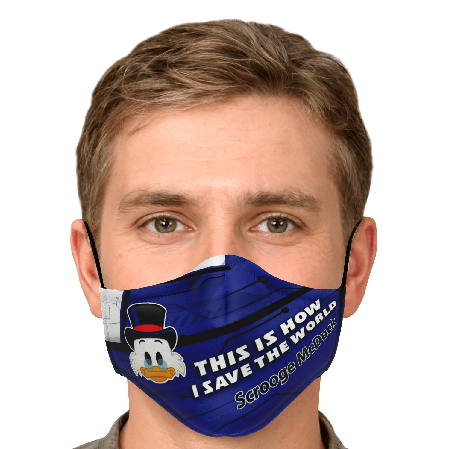 This Is How I Save The World Scrooge McDuck Disney Face Masks 4