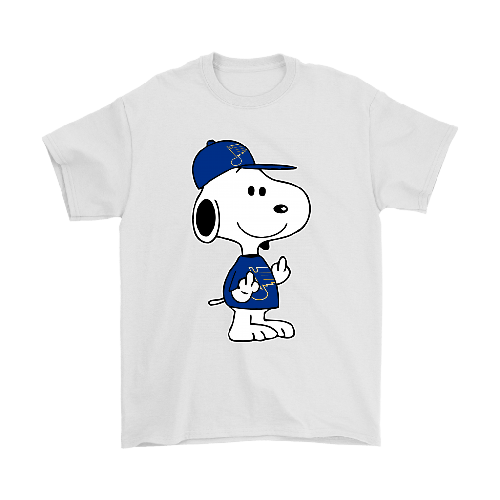 St. Louis Blues Snoopy Double Middle Fingers Fck You NHL Shirts 7