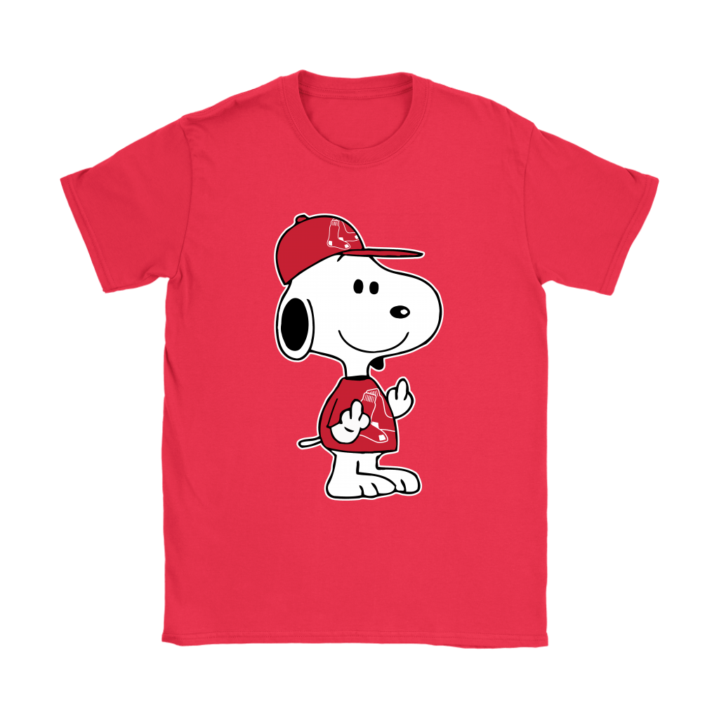 Boston Red Sox Snoopy Double Middle Fingers Fck You MLB Shirts 11