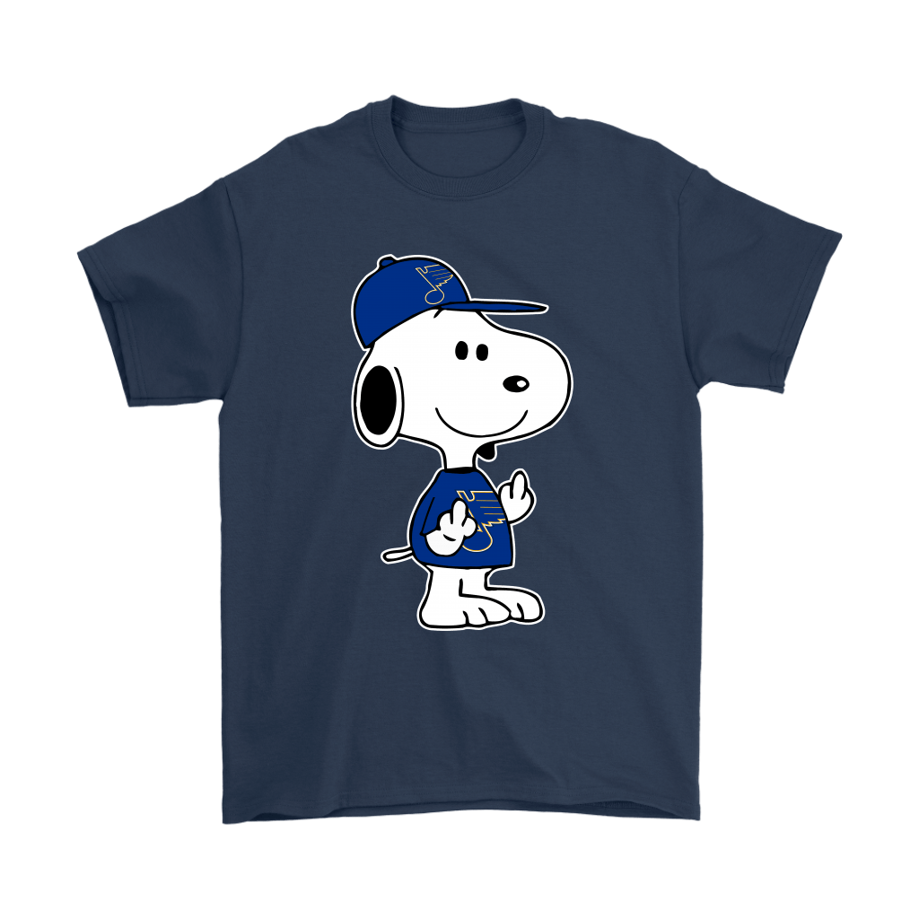 St. Louis Blues Snoopy Double Middle Fingers Fck You NHL Shirts 3