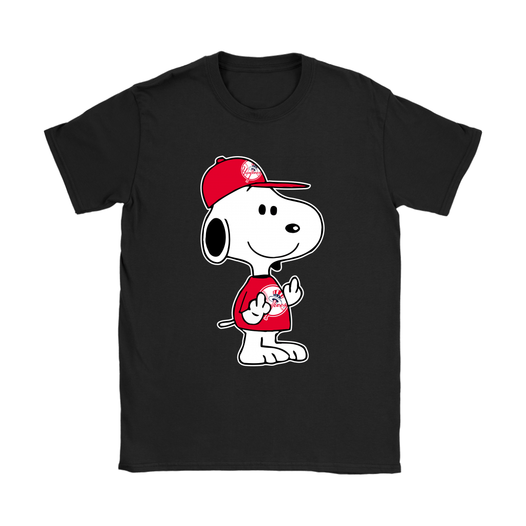 New York Yankees Snoopy Double Middle Fingers Fck You MLB Shirts 8