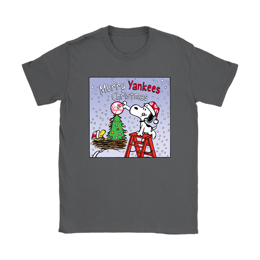 Snoopy and Woodstock Merry New York Yankees Christmas Shirts 9