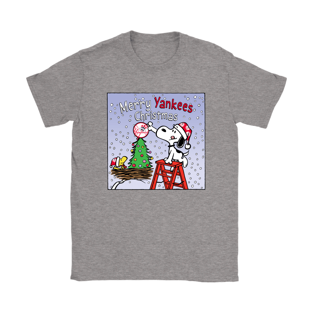 Snoopy and Woodstock Merry New York Yankees Christmas Shirts 13