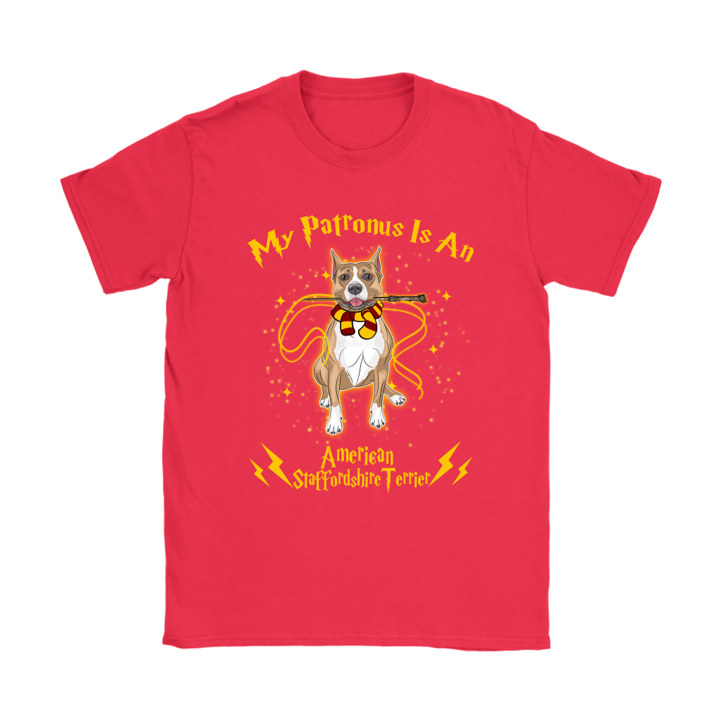 My Patronus Is A American Staffordshire Terrier Harry Potter Dog Shirts 12