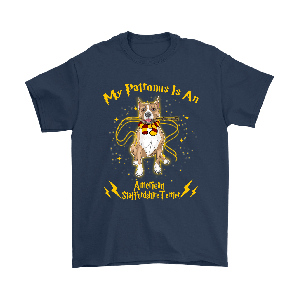 My Patronus Is A American Staffordshire Terrier Harry Potter Dog Shirts 3