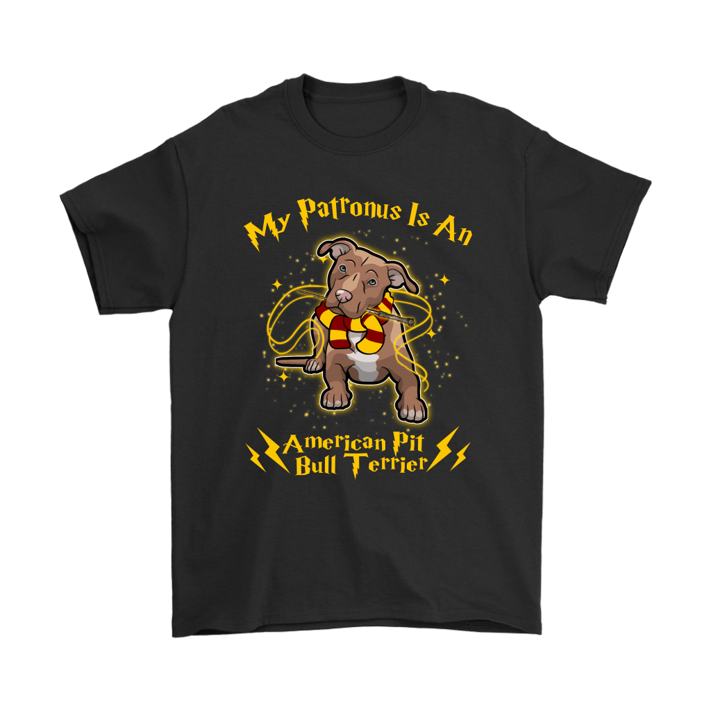 My Patronus Is A American Pit Bull Terrier Harry Potter Dog Shirts 1