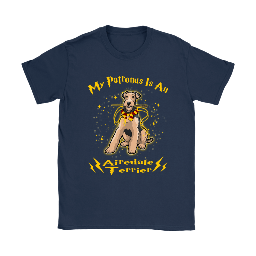 My Patronus Is A Airedale Terrier Harry Potter Dog Shirts 10