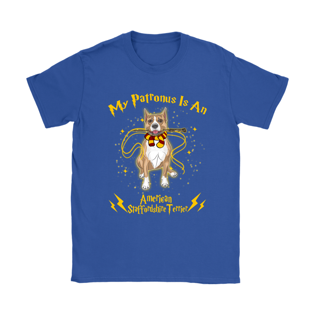 My Patronus Is A American Staffordshire Terrier Harry Potter Dog Shirts 13