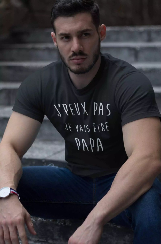 Teeshirt Homme - J'peux Pas Je Vais Être Papa