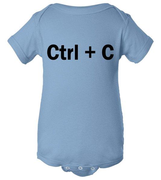 Ctrl + C Baby Bodysuit, Funny Baby Clothes