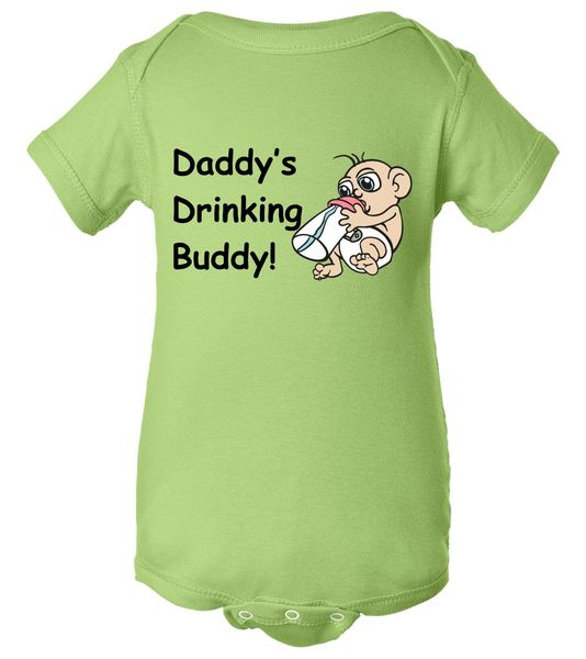 Daddy's Drinking Buddy Baby Bodysuit, Funny Baby Clothes