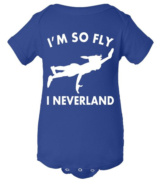 I'm So Fly I Neverland Baby Bodysuit, Funny Baby Clothes