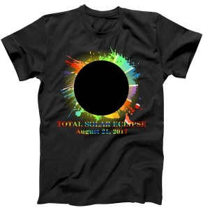 Total Solar Eclipse Rainbow Splatter Logo August 21st, 2017 T-Shirt