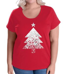 Abstract Big Christmas Tree Women's Plus Size T-Shirt
