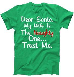 Dear Santa Naughty Wife T-Shirt