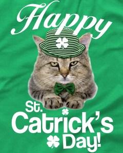 Happy St. Catrick's Day Irish Cat T-Shirt
