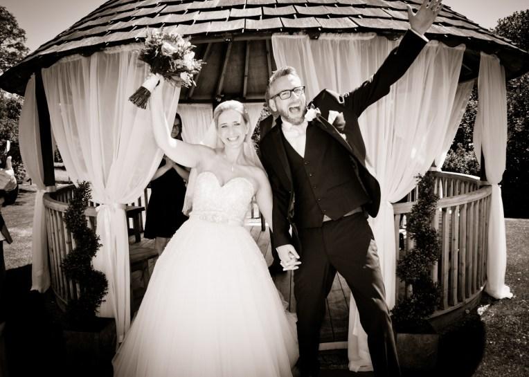 wedding bride groom celebrate