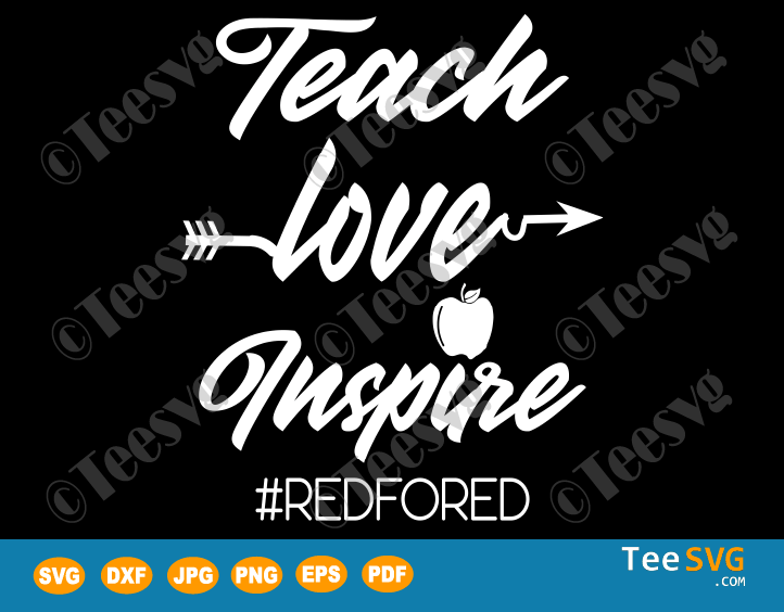 Download Teach Love Inspire SVG Apple Red For Ed Shirts   Teesvg