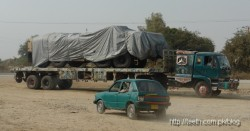 APC being transported to Baluchistan