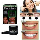 MIRACLE TEETH Black activated carbon teeth cleaning powder Miracle WHITE teeth