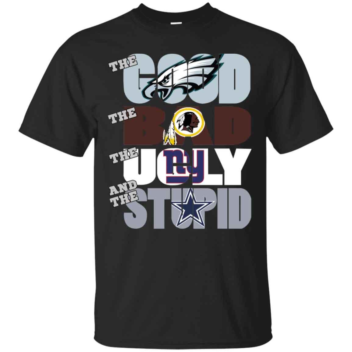 Philadelphia Eagles The Good The Bad The Ugly The Stupid Christmas Ugly Sweater Hoodies Sweatshirts