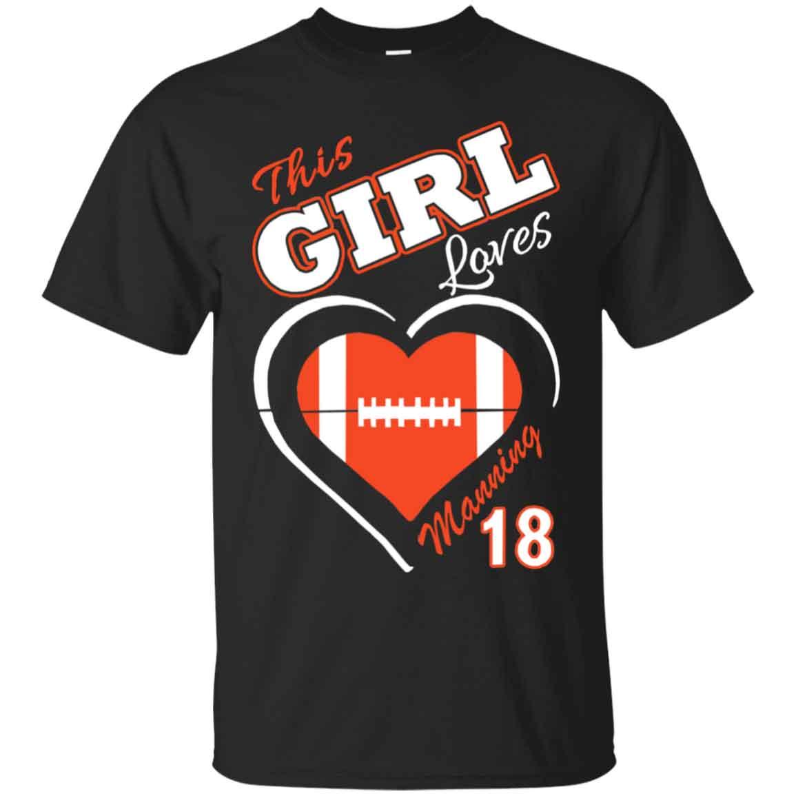 sale retailer 527ee d42d7 Peyton Manning Woman This Girl Loves Manning Hoodies Sweatshirts