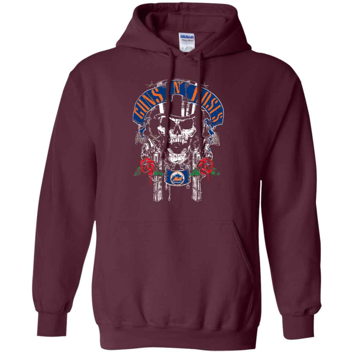 best service 38f36 713f1 Gún N Roses Iron Maiden New York Mets Hoodies Sweatshirts