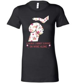 $19.95 – Funny Nurse Wine Shirts: Penis Dog Lady T-Shirt