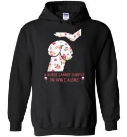 $32.95 – Funny Nurse Wine Shirts: Penis Dog Hoodie