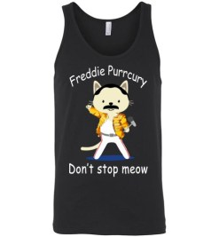 $24.95 - Funny Freddie Purrcury Don't Stop Meow Unisex Tank