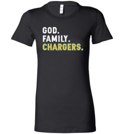 $19.95 – Christian Dad Father Day Gift God Family Chargers Lady T-Shirt
