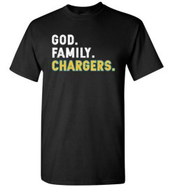 $18.95 – Christian Dad Father Day Gift God Family Chargers T-Shirt