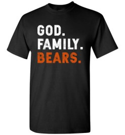 $18.95 – Christian Dad Father Day Gift God Family Bears T-Shirt