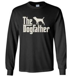$23.95 – The Dogfather Beagle Shirts Funny Dog Dad Long Sleeve T-Shirt