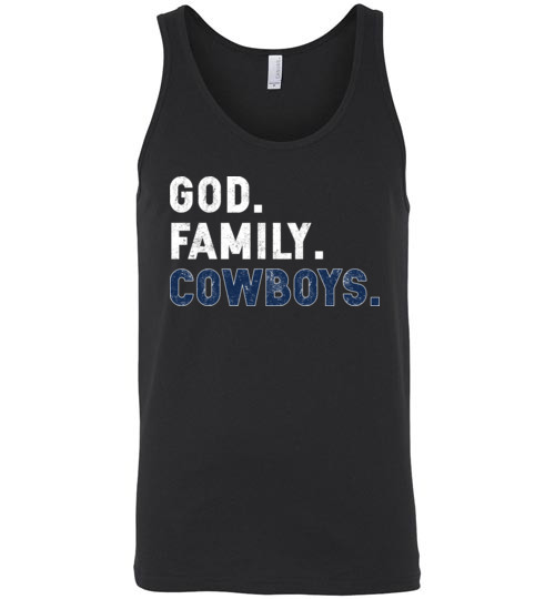 $24.95 – Christian Dad Father Day Gift God Family Cowboys Unisex tank