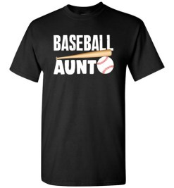 $18.95 – Baseball Aunt T-Shirts Gift for Cool Aunt T-Shirt