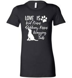 $19.95 – Black Labrador Retriever Love My Dog Saying Quotes Lady T-Shirt