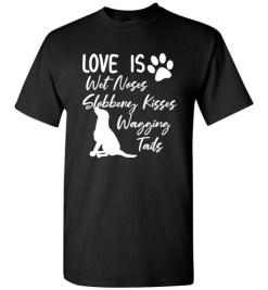$18.95 – Black Labrador Retriever Love My Dog Saying Quotes T-Shirt