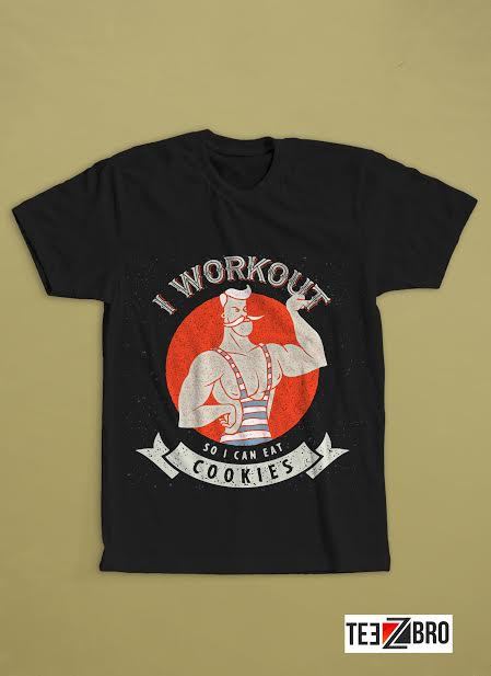 Cookie Workout tshirt