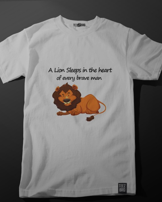 A lion sleeps in the heart