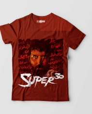 Super 30 Hrithik Tshirt Brown