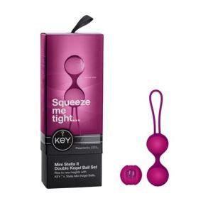 Key by Jopen Mini Stella II Double Kegel Ball Set - Raspberry Pink