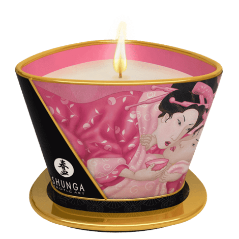 Shunga Massage Candle Aphrodisia (Rose)