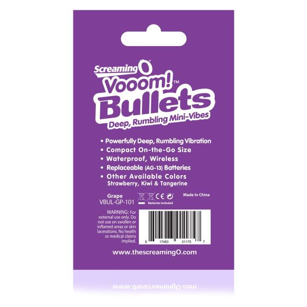 Screaming O Vooom Bullets - Grape